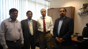 With Dr. Naushad , Dr.Firoz,Head Biotechnology DEPARTMENT and Dr. Kanan at Manipal University Dubai